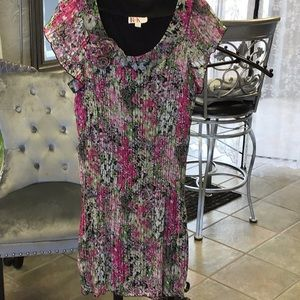 R&K Pleated Floral Dress